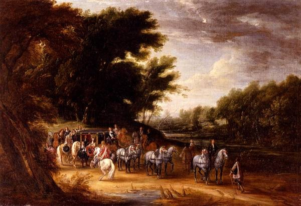 Louis XIV In A State Coach Accompanied By His Gentleman